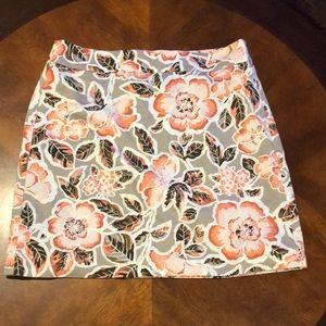 Loft Floral Skirt Size 6